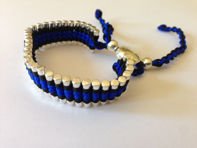 Friendship Bracelet Black and Royal Blue Colour